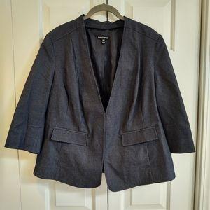 Fashion Bug blue stretch denim suit jacket
